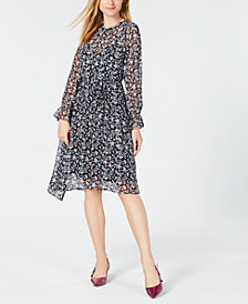 Maison Jules Floral-Print Asymmetrical Dress, Created for Macy's