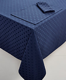 "kate spade new york Café Caning  60"" x 120"" French Navy Tablecloth"