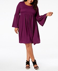 Plus Size Smocked Dress