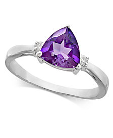 Amethyst (1-1/5 ct. t.w.) & Diamond Accent Ring in 14k White Gold