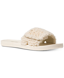 MICHAEL Michael Kors MK Faux Fur Slide Sandals