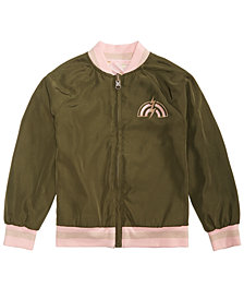 Epic Threads Little Girls Reversible Unicorn Baseball Jacket, Created for Macy's