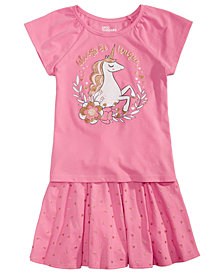 Epic Threads Toddler Girls Unicorn T-Shirt & Heart-Print Skirt, Created for Macy's