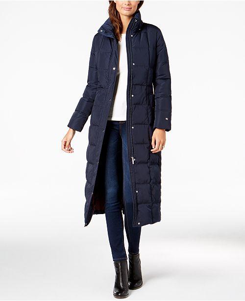 8daa18577a2 Tommy Hilfiger Faux-Fur-Trim Maxi Puffer Coat   Reviews - Coats ...