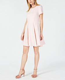 Maison Jules Heart Cutout Fit & Flare Dress, Created for Macy's