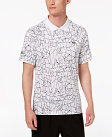 Lacoste Men's Novak Djokovic Printed Ultra-Dry Technical Jersey Polo