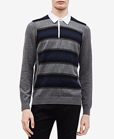 Calvin Klein Men's Striped Rugby Shirt