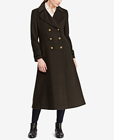 Lauren Ralph Lauren Double Breasted Military Maxi Coat