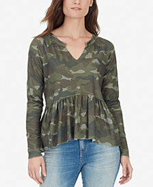 WILLIAM RAST Gryphon Printed Peplum Top