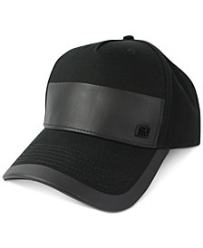 Sean John Men's Faux Leather Patch Adjustable Baseball Cap