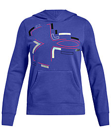 Under Armour Big Girls Rival Logo-Print Hoodie