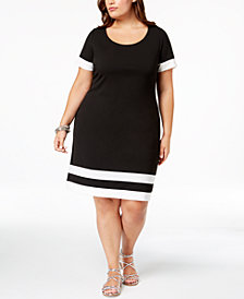Love Squared Trendy Plus Size Colorblocked Dress