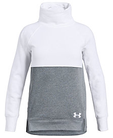 Under Armour Big Girls Rival Colorblocked Sweatshirt
