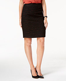 Nine West Tweed Pencil Skirt