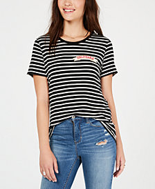Carbon Copy Striped Patch T-Shirt