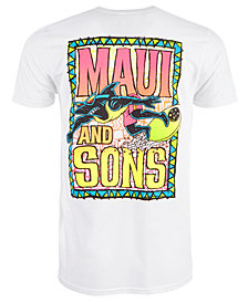 Maui and Sons Men's Shark Ride Logo Graphic T-Shirt