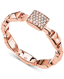 Michael Kors Women's Mercer Link Sterling Silver Ring