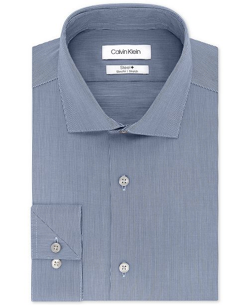 caed47a09232 ... Calvin Klein Calvin Klein Men s STEEL Slim-Fit Non-Iron Stretch  Performance Dress ...