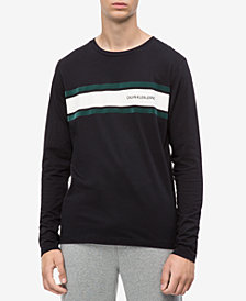 Calvin Klein Jeans Men's Long-Sleeve Striped T-shirt