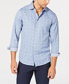 Tallia Men's Slim-Fit Paisley Print Dress Shirt