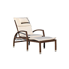 Courtyard Casual Beach Front Deck Chair to Chaise Lounge Combo