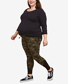 Motherhood Maternity Under Bell Camo Print Leggings