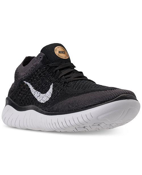 Nike Women's Free Run Flyknit 2018 Running Sneakers from
