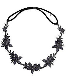 RACHEL Rachel Roy Black-Tone Crystal Flower Headband
