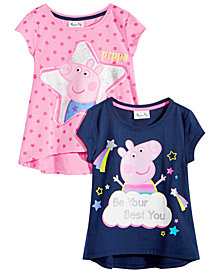 Peppa Pig Little Girls 2-Pk. Graphic-Print T-Shirt