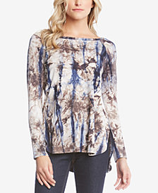 Karen Kane Tie-Dyed High-Low Top