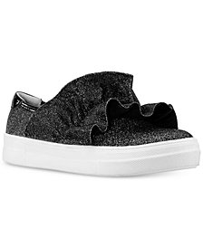 Nina Toddler, Little & Big Girls Ivani Ruffle-Trim Slip-On Sneakers