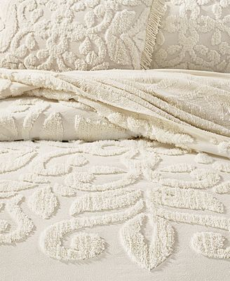 Martha Stewart Collection Chenille Medallion Bedspread And Sham