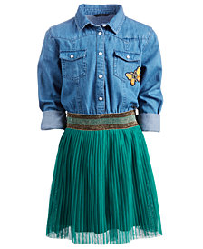 GUESS Big Girls Layered-Look Shirtdress