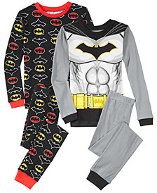 DC Comics Big Boys 4-Pc. Batman Cotton Pajama Set