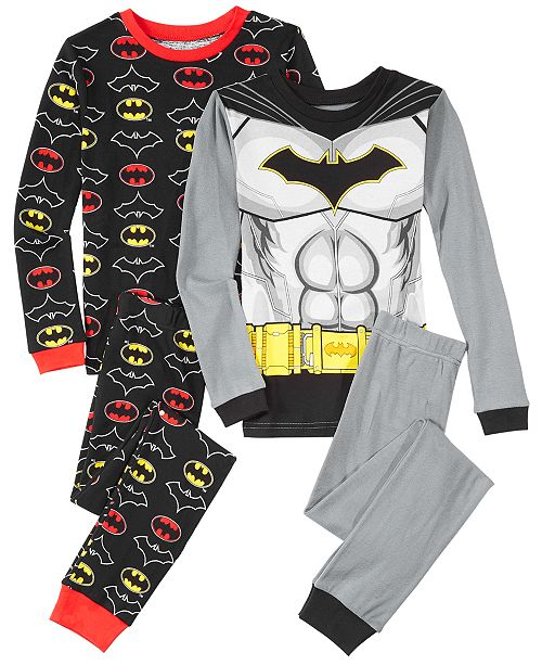 623ba22bf0fb DC Comics Big Boys 4-Pc. Batman Cotton Pajama Set   Reviews ...