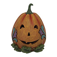 CLOSEOUT! Enesco Jim Shore Harvest Fig Two Sided Lighted Jack-o-Lantern