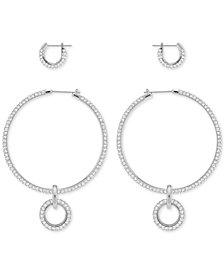 Swarovski 2-Pc. Set Crystal Hoop Earrings