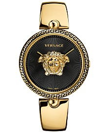 Versace Women's Swiss Palazzo Empire Gold-Tone Stainless Steel Semi-Bangle Bracelet Watch 39mm