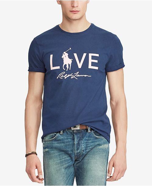 4336df91 Polo Ralph Lauren Men's Pink Pony Cotton T-Shirt & Reviews - T ...