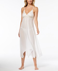 Linea Donatella Keepsake Lace-Trim Nightgown