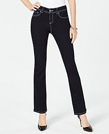 I.N.C. Contrast-Stitch Skinny Jeans, Created for Macy's