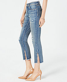 I.N.C. Ripped Cropped Skinny Jeans, Created for Macy's