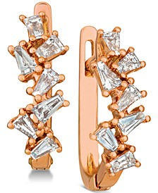 Baguette Frenzy™ Diamond Hoop Earrings (5/8 ct. t.w.) in 14k Rose Gold