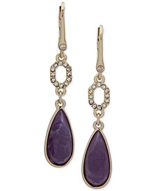 Ivanka Trump Gold-Tone Crystal Link & Stone Double Drop Earrings