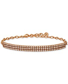 Le Vian® Diamond Pavé Bracelet (3 ct. t.w.) in 14k Rose Gold