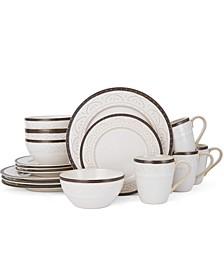 16-Pc. Promenade Scroll Dinnerware Set