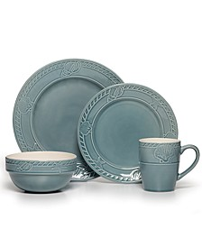 16-Pc. Antigua Blue Dinnerware Set