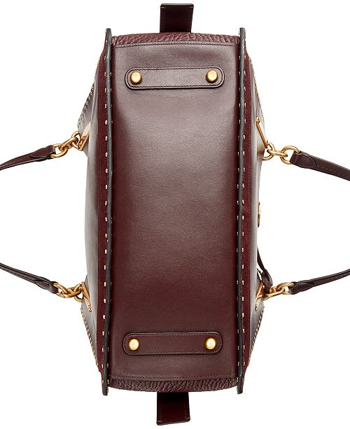 f20e977b52 COACH Border Rivets Leather   Suede Dreamer 36 Satchel   Reviews ...