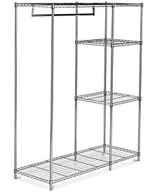 Betsy Chrome Wire Adjustable Garment Rack, Quick Ship