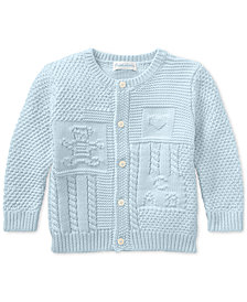 Ralph Lauren Baby Boys Contrast-Knit Cotton Cardigan